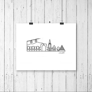 "Skyline Prints - Australasia - Unframed digital graphic - 8""x10"""
