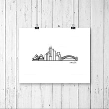 "Load image into Gallery viewer, Skyline Prints - Australasia - Unframed digital graphic - 8""x10"""