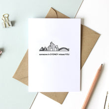 "Load image into Gallery viewer, Skyline Greeting Card - 5""x7"""