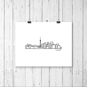 "City Skyline Prints - Digital Print 8""x10"" Mounted on Mat Board - 11""x14"""