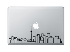 Toronto Skyline Art Decal - Decorative sticker for MacBook / laptop / wall / door / window