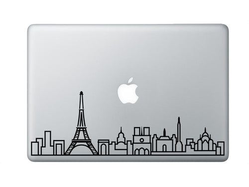 Paris Skyline Art Decal - Decorative sticker for MacBook / laptop / wall / door / window