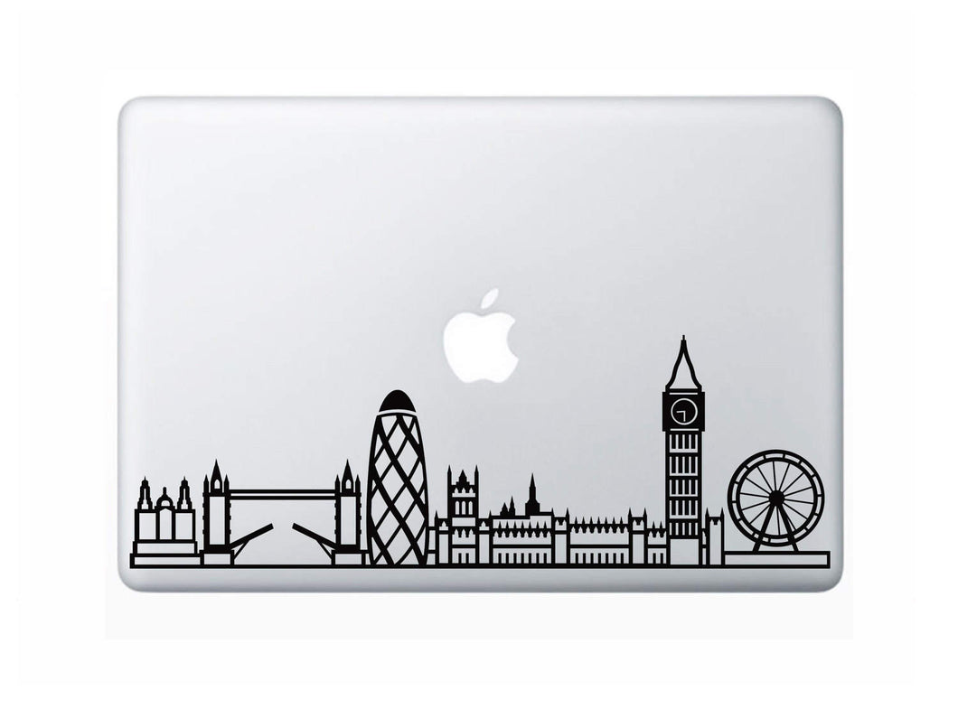 London Skyline Art Decal - Decorative sticker for MacBook / laptop / wall / door / window
