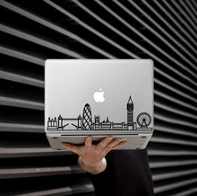 Load image into Gallery viewer, London Skyline Art Decal - Decorative sticker for MacBook / laptop / wall / door / window