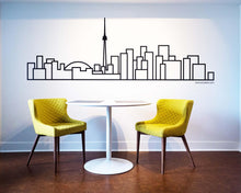 Load image into Gallery viewer, Toronto Skyline - Wall Decal - Decorative wall sticker for your home decor (no birds)