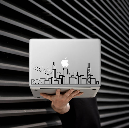 Choose Your Own City - Skyline Art Decal - Decorative sticker for MacBook / laptop / wall / door / window
