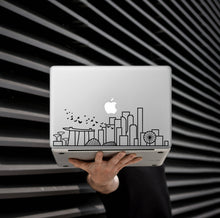 Load image into Gallery viewer, Customizable Skyline Art Decal - Decorative sticker for MacBook / laptop / wall / door / window