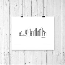 "Load image into Gallery viewer, Skyline Prints - Canada - Unframed digital graphic - 8""x10"""