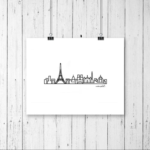 Skyline Prints - Europe - Unframed digital graphic - 8