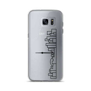 Phone Case Samsung - Clear - Black Skyline