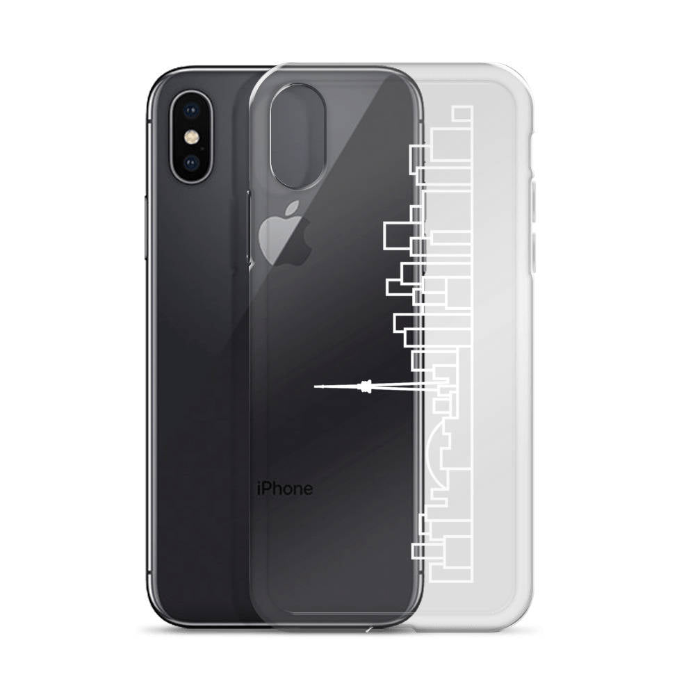 iPhone Case - Clear - White Skyline