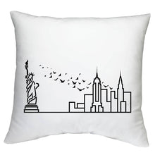 Load image into Gallery viewer, City Skyline Cushion Case (Insert not included) - White - Travel Home Decor