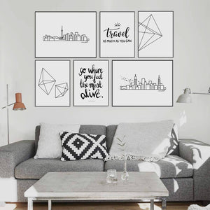 Typography Prints - Travel Quotes - Feel Alive - Unframed digital graphic