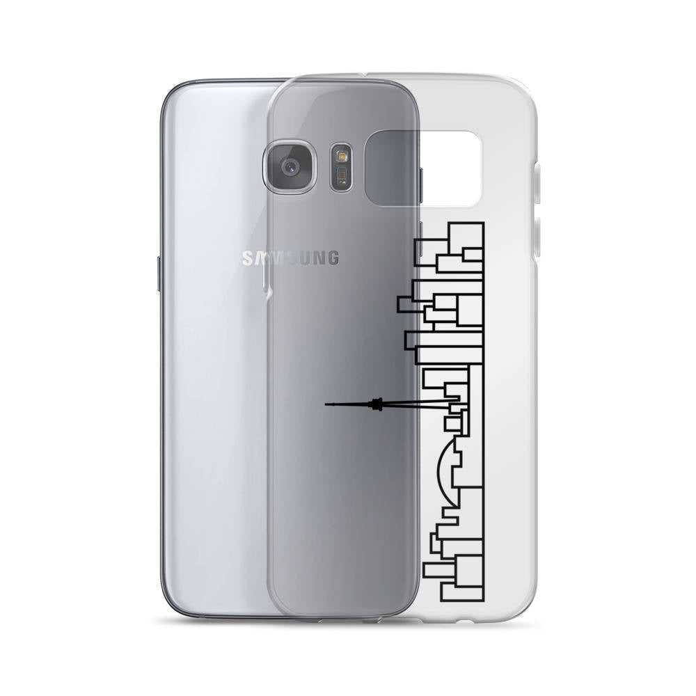 Samsung Case - Clear - Black Skyline
