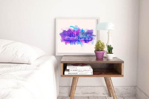 Watercolour skyline art - Toronto - Unframed digital graphic