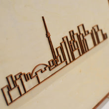 Load image into Gallery viewer, Laser-cut Toronto Skyline - Mounted on woodblock - Decorative Wall Art