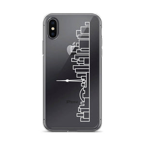 Phone Case iPhone - Clear - White Skyline