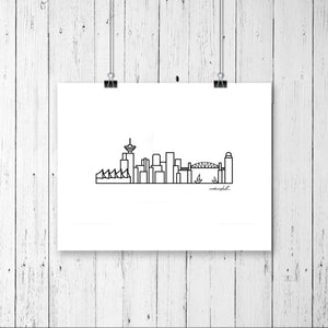 "Skyline Prints - Canada - Unframed digital graphic - 8""x10"""