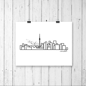 "City Skyline Prints - UNFRAMED digital poster print - 18""x24"""