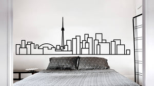 Toronto Skyline - Wall Decal - Decorative wall sticker for your home decor (no birds)