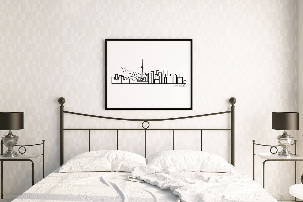 City Skyline Prints - UNFRAMED digital poster print - 18