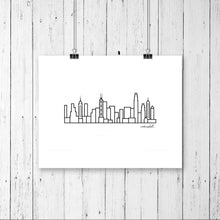 "Load image into Gallery viewer, Skyline Prints - Asia - Unframed digital graphic - 8""x10"""