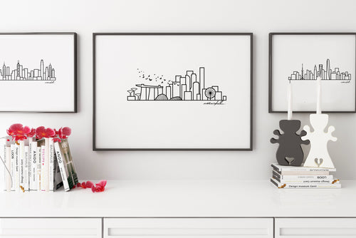 Skyline Prints - Asia - Unframed digital graphic - 8