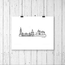 "Load image into Gallery viewer, Skyline Prints - Europe - Unframed digital graphic - 8""x10"""