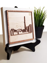 "Load image into Gallery viewer, Laser-cut Toronto - Mounted on woodblock - Decorative Wall Art - Small 6""x6"""