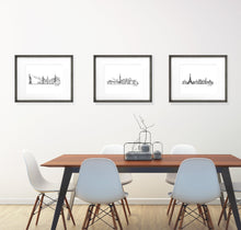 "Load image into Gallery viewer, City Skyline Prints - Digital Print 8""x10"" Mounted on Mat Board - 11""x14"""