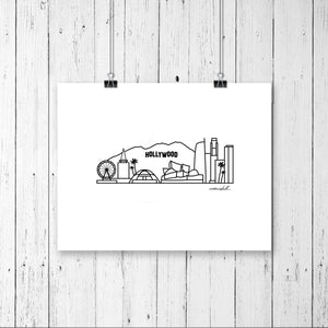 "Skyline Prints - United States - Unframed digital graphic - 8""x10"""