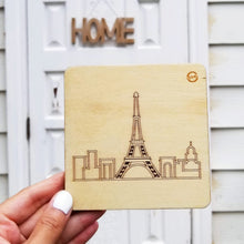 Load image into Gallery viewer, Laser-etch Skyline Coasters - Set of 4