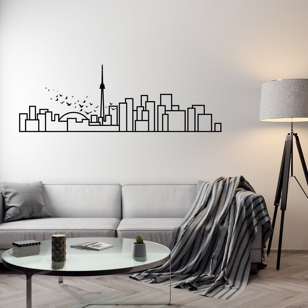 Toronto Skyline - Wall Decal - Decorative wall sticker for your home decor