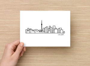 "Toronto City Skyline Postcard - 5""x7"" - Travel Gift and Mementos"