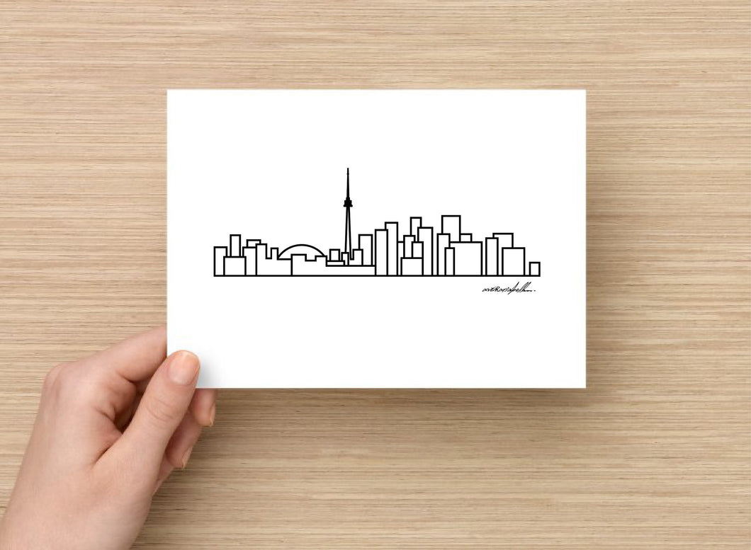 Toronto City Skyline Postcard - 5