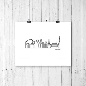 "Skyline Prints - Asia - Unframed digital graphic - 8""x10"""