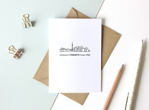 "Skyline Greeting Card - 5""x7"""
