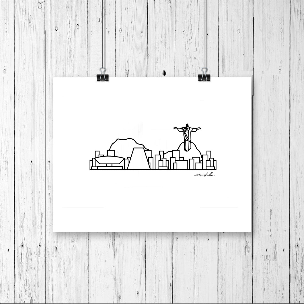 Skyline Prints - South America - Unframed digital graphic - 8