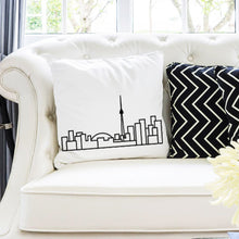 Load image into Gallery viewer, City Skyline Cushions - White - Travel Home Decor