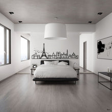 Load image into Gallery viewer, Paris Skyline - Wall Decal - Decorative wall sticker for your home decor