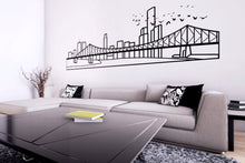Load image into Gallery viewer, Brisbane Skyline - Wall Decal - Decorative wall sticker for your home decor