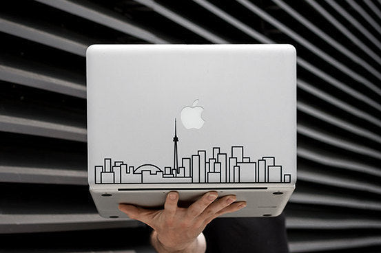 Toronto Skyline Art Decal - White Decorative sticker for MacBook / laptop / wall / door / window