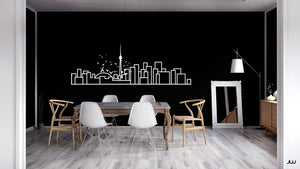 Minimalist Wall Decal - Toronto Skyline - Decorative wall sticker for your home decor - Travel themed and Scandinavian inspired design