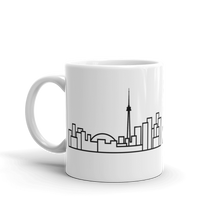 Load image into Gallery viewer, White Ceramic Skyline Mug