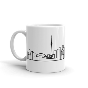 White Ceramic Skyline Mug