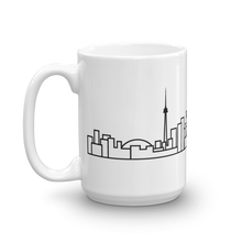 Load image into Gallery viewer, White Ceramic Toronto Skyline Mug