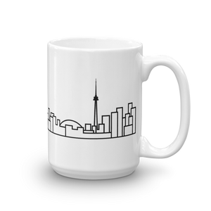 White Ceramic Toronto Skyline Mug