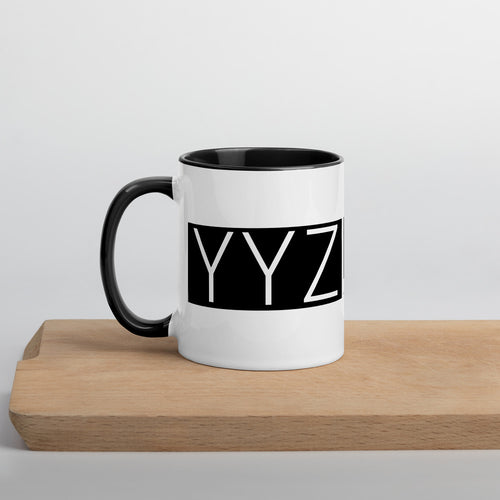 YYZ Mug with black Inside - Toronto Pearson Coordinates - Collectible Travel Mug