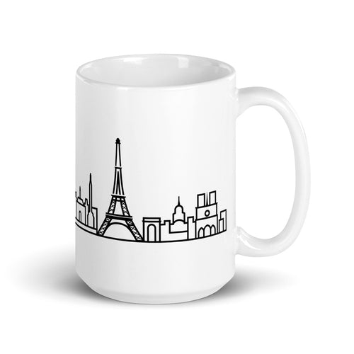 White Ceramic Skyline Mug - Customizable
