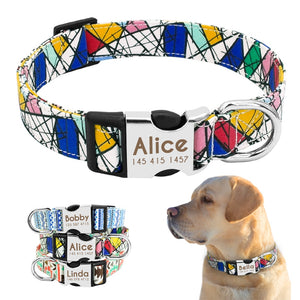 feef4690621b Dog Collar Personalized Nylon Customized Pet ID Tag Colllar Engraved Nameplate  Puppy Dogs Collars Pets Accessories for Beagle